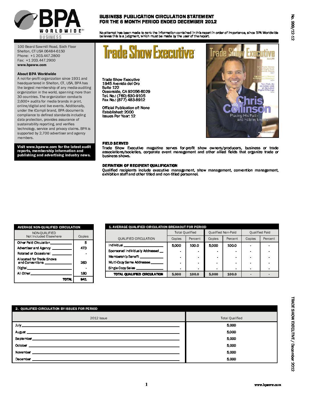 BPA Audit July-December 2012
